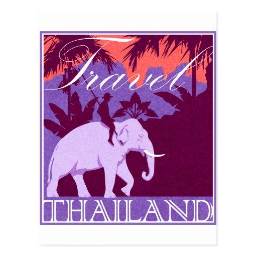 Travel Thailand white elephant Postcards
