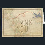 """Travel Thank You Card<br><div class=""""desc"""">This thank you card is travel-themed,  and perfect for someone with that wanderlust personality!</div>"""