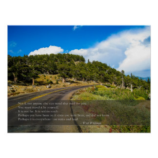 Travel that Road Whitman Quote Posters