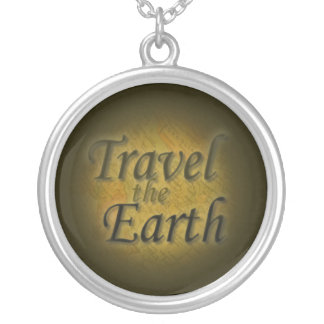 Travel the Earth- Map Round Pendant Necklace