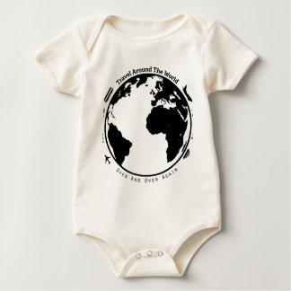 Travel the globe baby bodysuit