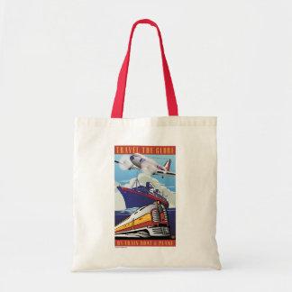Travel The Globe-Tote Bag