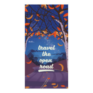 Travel the open road poster