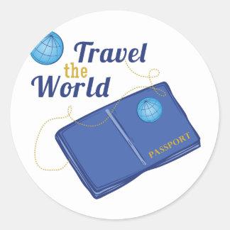 Travel The World Classic Round Sticker