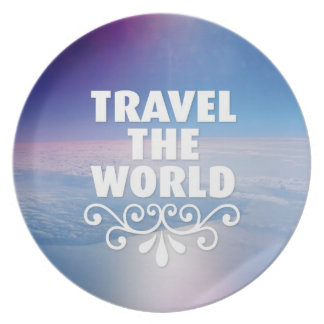 Travel the world home deco kitchen plate