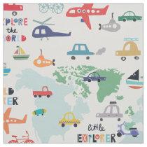 Travel The World Little Explorer Vehicles Fabric