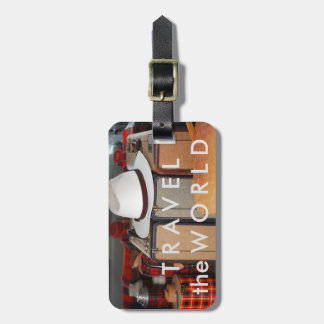 Travel the World - Old Style Luggage Tag