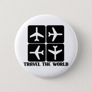 Travel the World Pinback Button