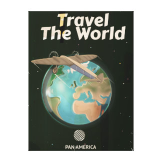 Travel the World Science fiction vintage poster Canvas Print