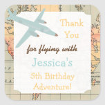 Travel Theme Birthday Stickers- Custom Bday Labels