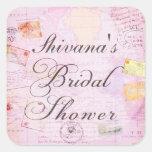 Travel Theme Bridal Shower stickers