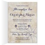 wedding, invitation, passport, travel, themed,