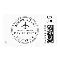 Travel Theme Party STAMP Postage Airplane