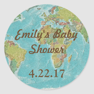 Travel theme stickers for baby shower