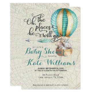 Travel Themed Baby Shower Invitation