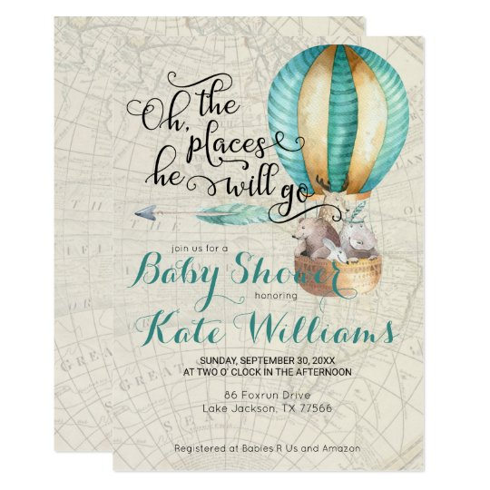 Travel themed baby shower invitation zazzle travel themed baby shower invitation filmwisefo