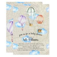 Travel theme invitations zazzle travel themed baby shower invitation filmwisefo