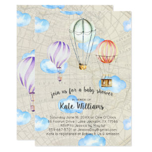 Travel theme invitations announcements zazzle travel themed baby shower invitation filmwisefo