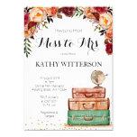 Travel Themed Bridal Shower Invitation