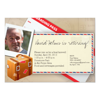Travel Themed Invitations - Great for Retirement