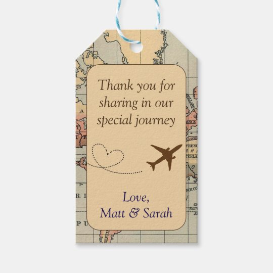 travel themed party favor tag vintage wedding gift tags zazzle com
