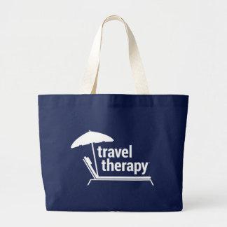 Travel Therapy Beach Bag | Navy & White
