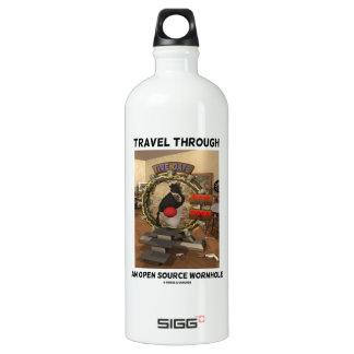 Travel Through An Open Source Wormhole (Duke) Aluminum Water Bottle