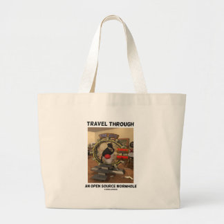 Travel Through An Open Source Wormhole (Duke) Large Tote Bag
