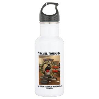 Travel Through An Open Source Wormhole (Duke) 18oz Water Bottle