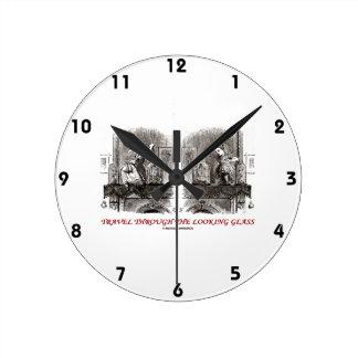 Travel Through The Looking Glass (Wonderland) Round Clock