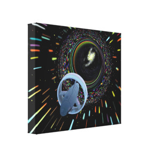 Travel Through The Wormhole Canvas Print