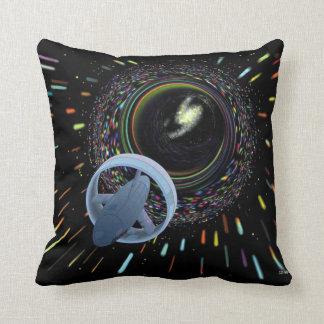 Travel Through The Wormhole Throw Pillow
