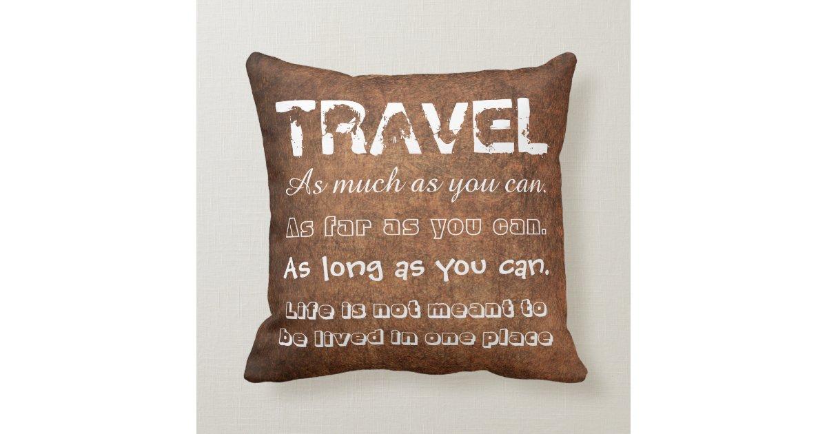 Travel Throw Pillow Zazzle