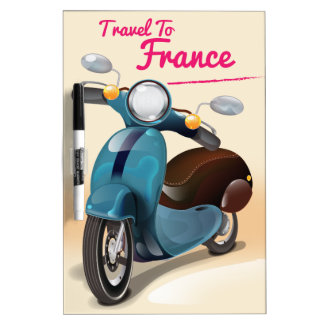 Travel To France Dry-Erase Board