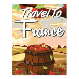 Travel To France travel poster Postcard