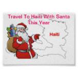 TRAVEL TO HAITI WITH SANTA THIS YEAR POSTERS
