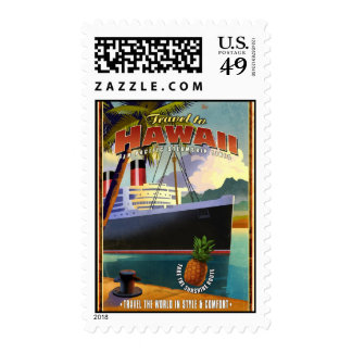 Travel to Hawaii Postage Stamp
