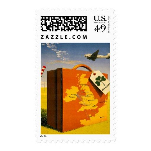 Travel to Ireland poster Custom Postage