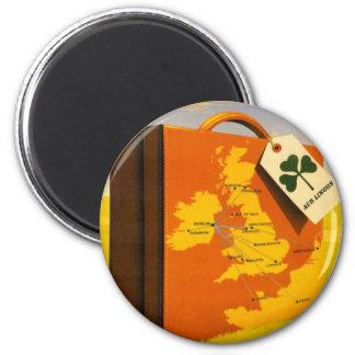 Travel to Ireland poster Round Magnet