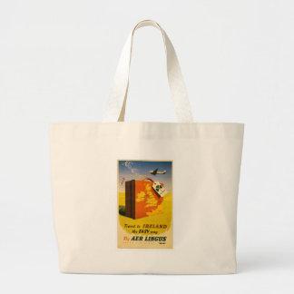 Travel to Ireland poster Tote Jumbo Tote Bag