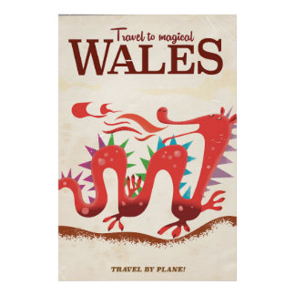 Travel to Magical Wales vintage poster