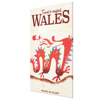 Travel to Magical Wales vintage poster Canvas Print