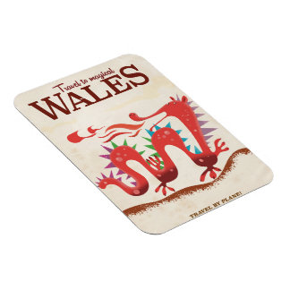 Travel to Magical Wales vintage poster Magnet