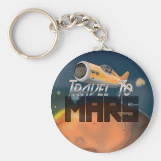 Travel To Mars Basic Round Button Keychain