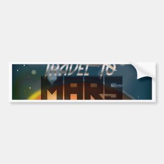 Travel To Mars Car Bumper Sticker