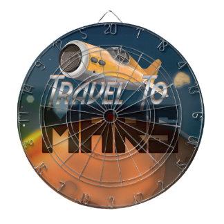 Travel To Mars Dartboard