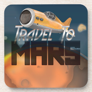 Travel To Mars Drink Coaster