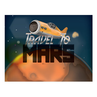 Travel To Mars Postcard