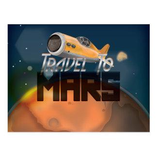 Travel To Mars Postcard