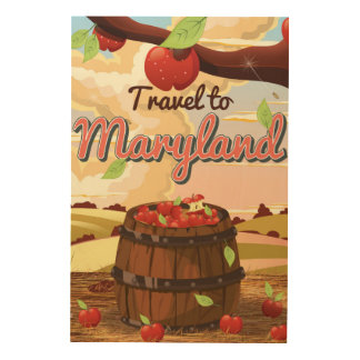 Travel To Maryland travel poster